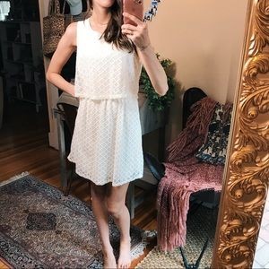 Dresses & Skirts - Lace neutral tiered preppy boho casual day dress